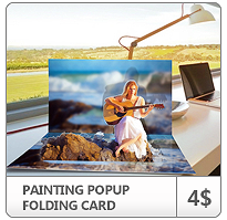 Painting Popup Folding Card