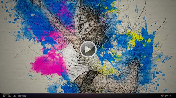 line-art-youtube-screen